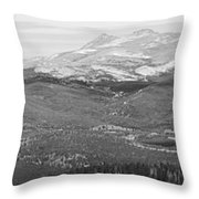 Colorado Continental Divide Panorama Hdr Bw Throw Pillow