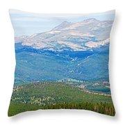 Colorado Continental Divide Panorama Hdr Crop Throw Pillow