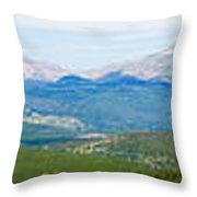 Colorado Continental Divide Panorama Hdr Throw Pillow