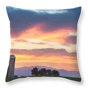 Colorado Farmers Sunset Throw Pillow
