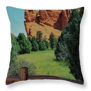 Colorado Garden Of The Gods From The Trail Throw Pillow