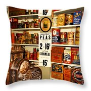Colorado General Store Supplies Throw Pillow