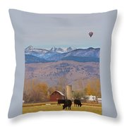 Colorado Hot Air Ballooning Throw Pillow