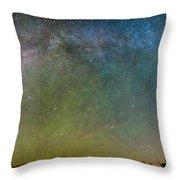 Colorado Indian Peaks Milky Way Panorama Throw Pillow