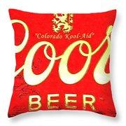 Colorado Kool-aid Throw Pillow