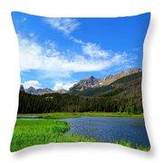 Colorado Lake Throw Pillow