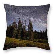 Colorado Milky Way Throw Pillow