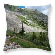 Colorado Mountain Landscape Throw Pillow