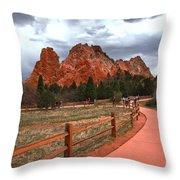 Colorado Path To Paradise Throw Pillow