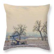 Colorado Pumpjack Throw Pillow