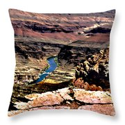 Colorado Rapids Grand Canyon Throw Pillow