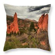 Colorado Red Rock Landcape Throw Pillow