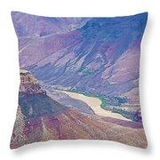 Colorado River At Cape Royal On North Rim Of Grand Canyon-arizona Throw Pillow