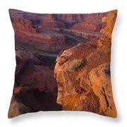 Colorado River At Dawn Throw Pillow