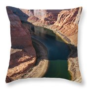 Colorado River Bend Throw Pillow