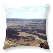Colorado River From Dead Horse Point  Throw Pillow