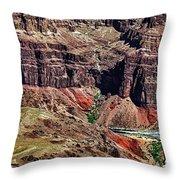 Colorado River In The Grand Canyon High Water Throw Pillow