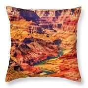 Colorado River 1 Mi Below 100 Miles To Vermillion Cliffs Utah Throw Pillow