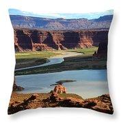 Colorado River Panoramic Throw Pillow