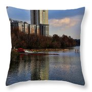 Colorado River Recreation Throw Pillow
