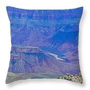 Colorado River Two At Cape Royal On North Rim Of Grand Canyon-arizona Throw Pillow