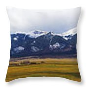 Colorado Rockies Panorama Throw Pillow