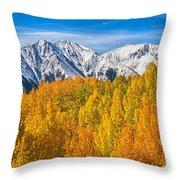 Colorado Rocky Mountain Autumn Beauty Throw Pillow