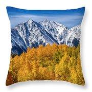 Colorado Rocky Mountain Autumn Magic Throw Pillow