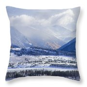 Colorado Rocky Mountain Autumn Storm Throw Pillow