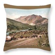 Colorado Roundup 1897 Throw Pillow