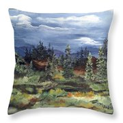 Colorado Skies Throw Pillow