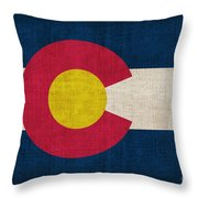 Colorado State Flag Throw Pillow by Pixel Chimp