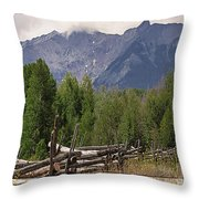Colorado Wilson Peak Clouds Throw Pillow