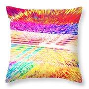 Colorburst Landscape Throw Pillow