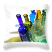 Colored Bottles Throw Pillow