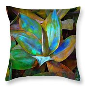 Colored Cactus Throw Pillow
