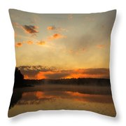 Colored Clouds Throw Pillow