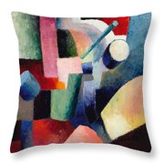 Colored Composition Of Forms   Throw Pillow
