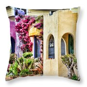 Colored Cottages By Diana Sainz Throw Pillow