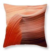 Colored Curves Throw Pillow