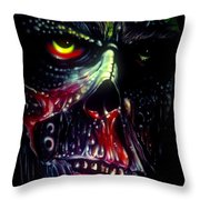 Colored Decay Throw Pillow