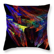 Colored Diamonds Throw Pillow