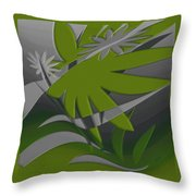Colored Jungle Green Throw Pillow