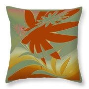 Colored Jungle Orange Splash Throw Pillow