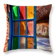 Colored Light Throw Pillow