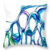 Colored Lights Abstract Throw Pillow