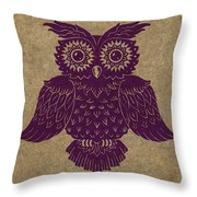 Colored Owl 1 Of 4  Throw Pillow