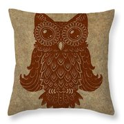 Colored Owl 2 Of 4  Throw Pillow