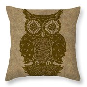 Colored Owl 3 Of 4  Throw Pillow