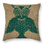 Colored Owl 4 Of 4  Throw Pillow